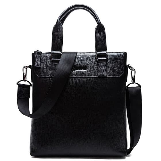 Scarecrow (MEXICAN) boutique male package cowhide men bag casual fashion vertical section square shoulder Messenger document bag MXC50136M-04 black