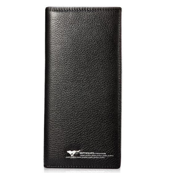 SEPTWOLVES Men Long Wallet Business Leisure Wallet