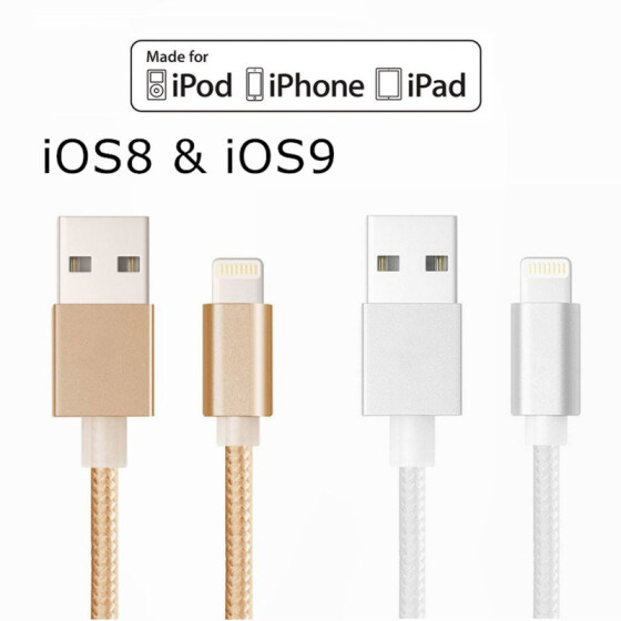 Gold Apple MFi Certified 4 Feet//1.2 Meter Nylon Braided Tangle-Free Sync /& Charge Charging Cable Cord Lightning to USB Cable Compatible with iPhone 8 8 Plus X 7 7Plus 6s 6sPlus 6 6Plus iPad iPod and More Lightning Cable iPhone Charger Cable -