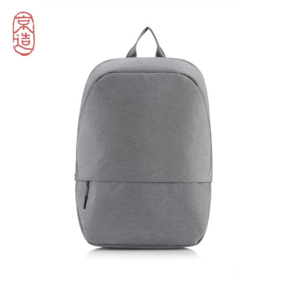 J.ZAO minimalist urban backpack casual business laptop bag 14 inches -15.6 inches men and women school bag light gray