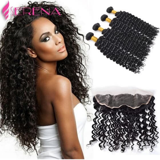 Brazilian Hair Lace Frontal Closure 13*4 Natural Black 1B Straight Body wave Deep wave human hair Weave closure Dyeable Bleachable