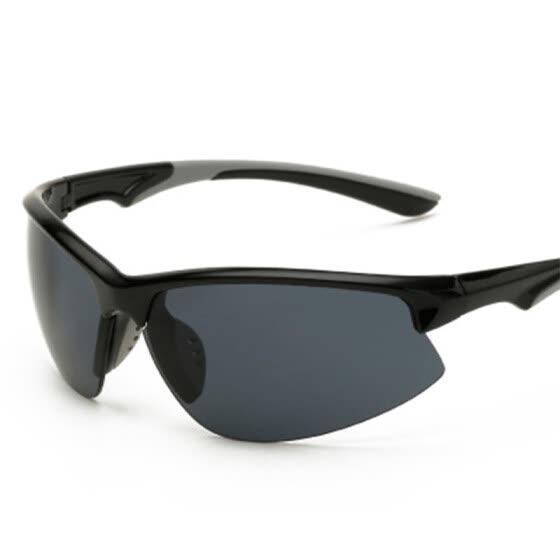 2b1a9b7779e Brand Mens Polarized Sport Sunglasses Driving Hiking Goggles Glasses Blue  Lens Semi Rimless Climbing Sun Glasses