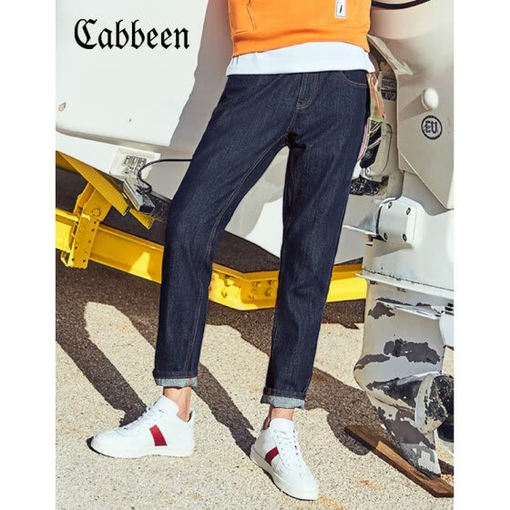 Carbine CABBEEN 3181116501 Carbine Men's 2018 Spring Slim Jeans Cotton Pants Pants Casual Wear Long Pants Trend I Sky Blue 37 27
