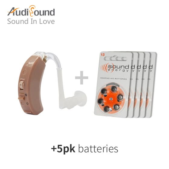 Audisound Touching Hearing Aid Amplifier Hearing Aids Best Sound Amplifier BTE Hearing Aid 30PCS/5 CARDS A13 Battery