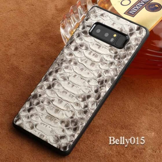 Genuine Leather Phone Case For Samsung Note 8 Case Natural Python Skin For  Galaxy S7 S8 Back Cover