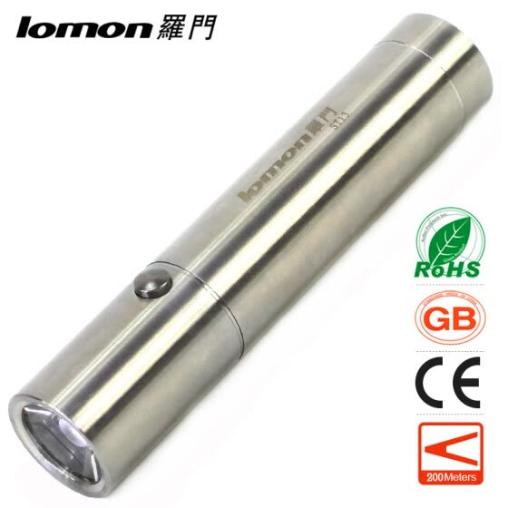 Stainless Steel LED Flashlight 18650 Rechargeable Camping Portable Light Waterproof Bicycle Cycling Handy Pocket Torch