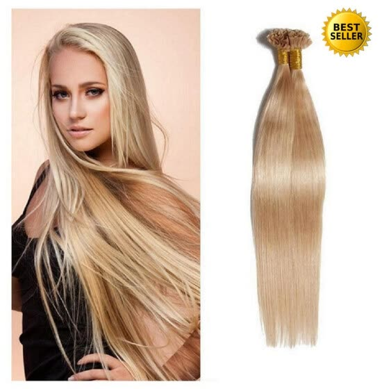 Protea Nail Tip Human Hair Extension 27# Color 100g European Human Keratin U Tip Pre Bonded Hair Extension 125 Strands 0.8g/root