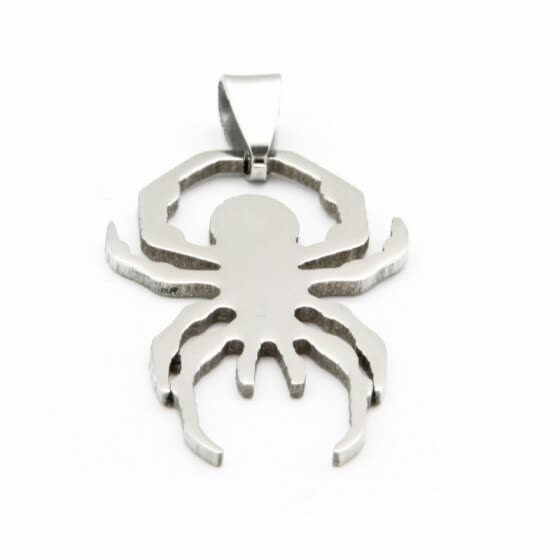 Hpolw fashion jewelry boutique cute animal spider Pendant - 21 inches Chain