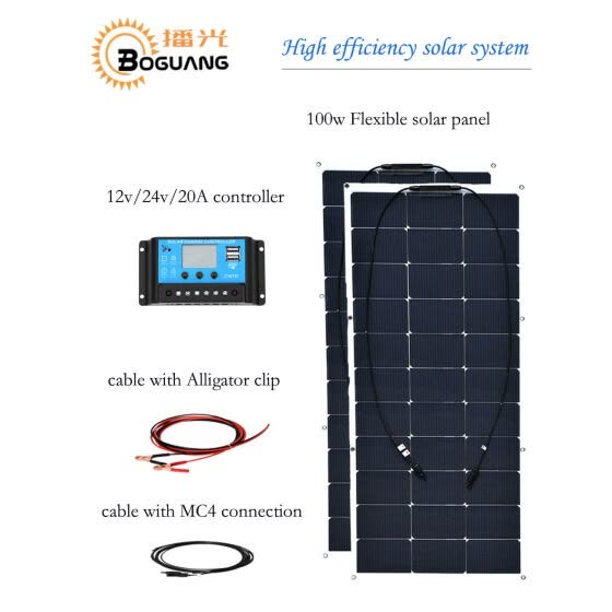 Shop BOGUANG 200w 12v Solar System Waterproof 16v 100w Flexible