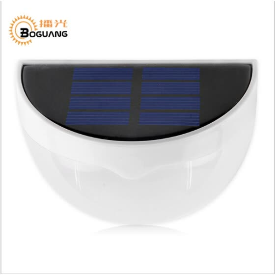 BOGUANG Waterproof 6 LED 0.26w Smooth Solar Power Panel Solar Lamp Outdoor Garden Decoration Landscape stairs Wall LED Solar light