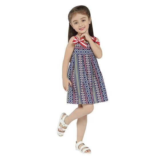 404f133469a Girls Summer Dress MQ 2018 New Arrival Sleeveless Strap Bowknot Dress For Little  Girl Kids Clothes