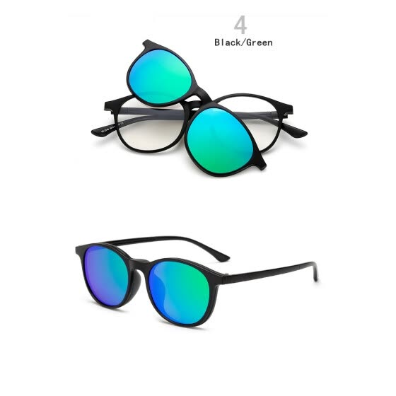 The new TR90 frame Polarized sunglasses with Magnetic Clip on Sunglasses for men and women magnet set mirror glasses