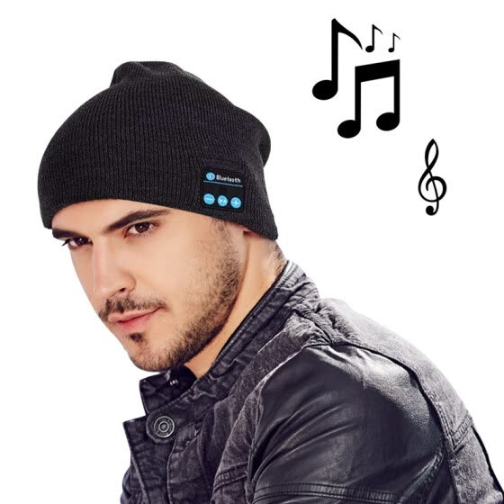 MOCREO Fashion Bluetooth Knit Hat with Stereo Headphones and Microphone Warm Chunky Soft Beanie Hands Free Talking