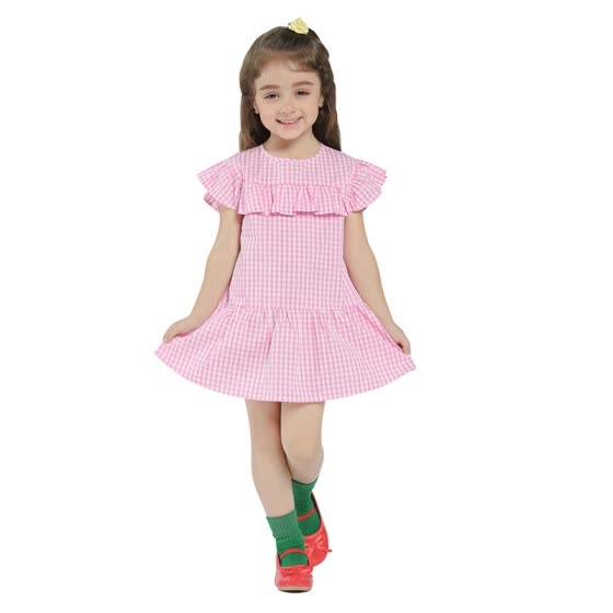 Kids Dress For Girls Spring 2018 New Arrival Baby Girls Dresses Summer Cotton Girls Clothe Casual Flounced Patchwork Hot Sale