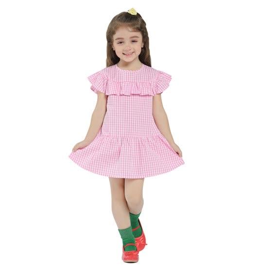 206ef3d05cd Kids Dress For Girls Spring 2018 New Arrival Baby Girls Dresses Summer  Cotton Girls Clothe Casual