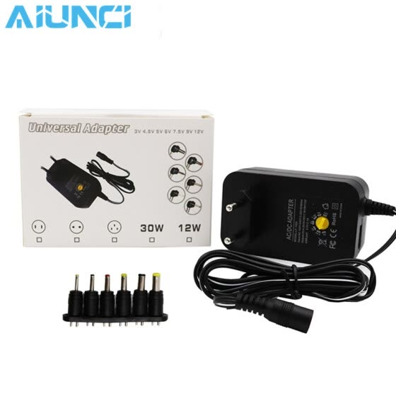 3V 4.5V 5V 6V 7.5V 9V 12V 30W AC DC Adapter Adjustable Power Supply Adaptor Universal Charger For Led Strip Camera Mobile Phone