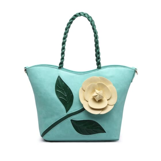 01827ab035 Shop Brand vintage women luxury handbags rose large flowers woven ...