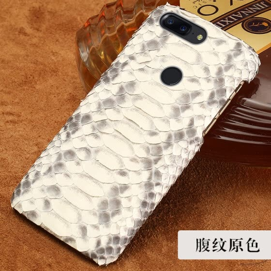 Genuine Leather Phone Case For Oneplus 5 5T Case Natural Python Skin For Oneplus 2 3 3T Back Cover