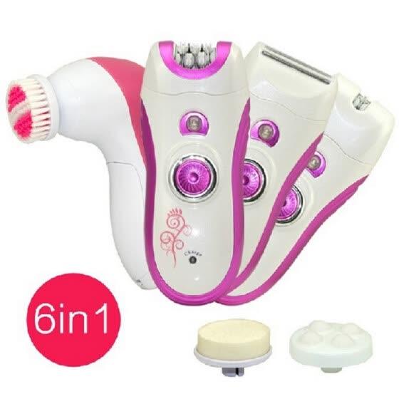 kemei 6in1 лицо epilator Electric Remover удаления волос depilador депиляции крем для тела epilator бикини триммер