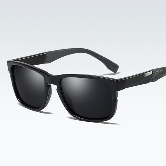 4c0242d69f 2018 Nueva llegada TR90 gafas de sol polarizadas hombres cuadrados Moda  gafas de sol de conducción