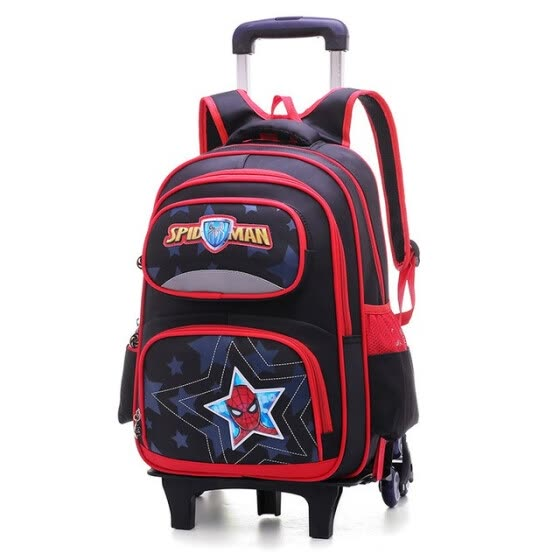 f5855488dc36 Cartoon Children 2 6 Wheeled bags Alleviate Burden Backpacks Drag package  waterproof Removable travel Trolley