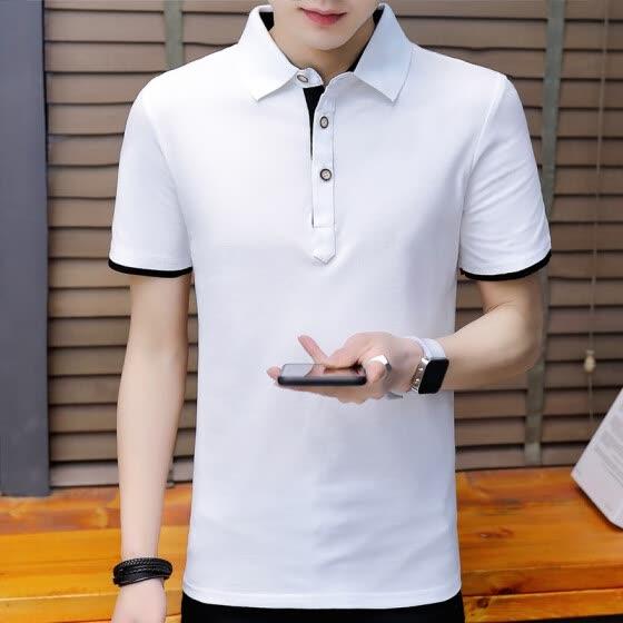 c928f29191 2018 recién llegado de moda hombres polo hombres de manga corta casual  hombres camisas Slim Fit