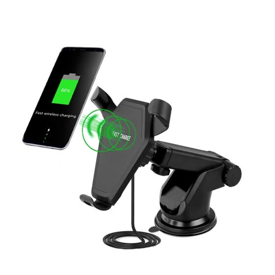 LUNDA Car Mount Qi Wireless Charger For iPhone X 8 Plus Quick Charge Fast Wireless Charging Pad Car Holder Stand For Samsung S8