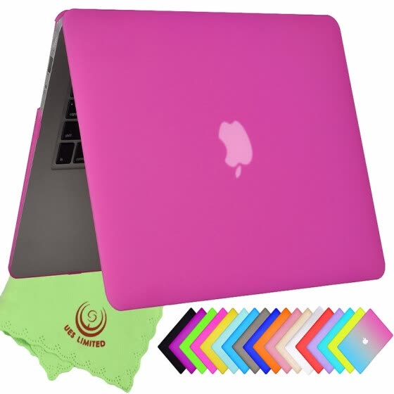 "UESWILL Smooth Soft-Touch Matte Frosted Hard Shell Case Cover for MacBook Air 11"" (Model: A1370/A1465)- Hot Pink"