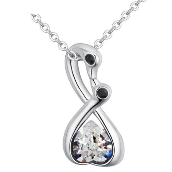 New Design Crystal Necklaces Made with Crystal from Swa Elements Chain Collier Jewel for Women Children Jewelry 28080