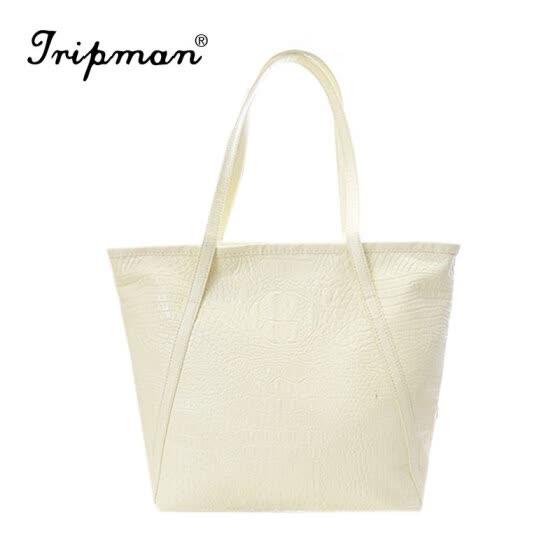 97bd41886 Tripman Bolsas Femininas Designer Brand Women Sigle Shoulder High Grade PU  Leather Crocodile Pattern Bags Bolsas