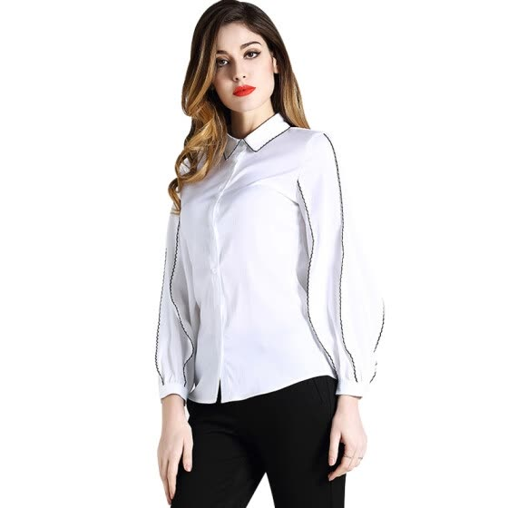 4734418e979be BURDULLY New Arrival Spring 2018 Silk Blouses For Women Work Wear formal  Office Ladies Blouses And