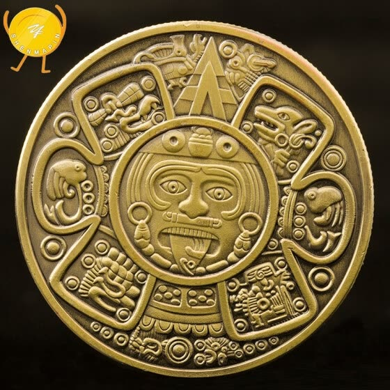 Commemorative Coin Maya Civilization Collection Gifts Souvenir Craft Art Bitcoin Mexican coins