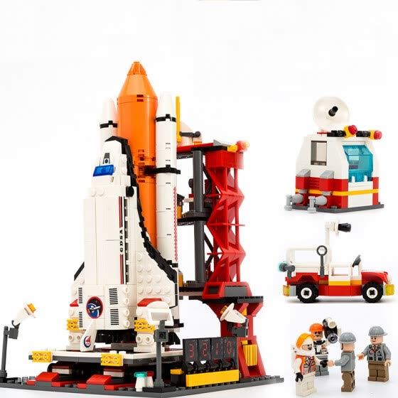 Space rocket Launch center Building Blocks Educational Toys For Children Enlighten  Children's model toys