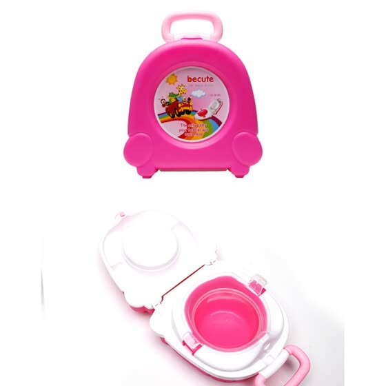 Child Travel Car Portable Toilet Training Potty Seat Urine Tub Folding Baby Toilet Trainer Seat Baby Born Potty with Handles