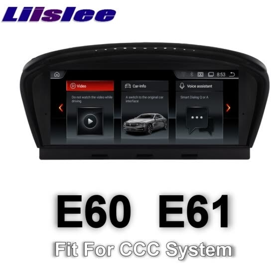 For BMW 5 E60 E61 CCC system 2003~2007 LiisLee Multimedia GPS Audio Hi-Fi Radio Stereo Original Style For CCC Navigation NAVI