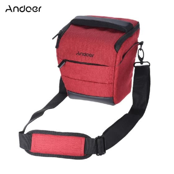 Andoer Portable DSLR Camera Shoulder Bag Sleek Polyester Camera Case for 1 Camera 1 Lens and Small Accessories