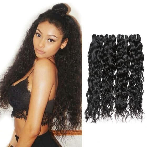 Brazilian Water Wave Virgin Hair 4PCS Brazilian Virgin Hair Wet and Wavy Virgin Hair Extensions 7A Brazilian Hair Weave Bundles