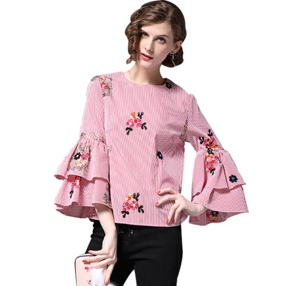 Shop Burdully Womens Tops And Blouses Shirt 2018 Spring Summer