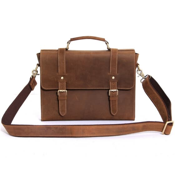 53129590e6 2016 luxury brand men genuine leather briefcase ipad bag handbag vintage cowhide  shoulder bag for men
