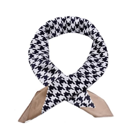 Shop Scarves Women 2018 Houndstooth Square Artificial Silk Scarf