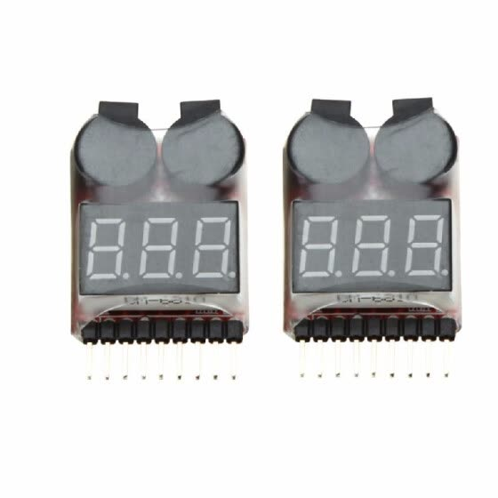 2Pcs 1-8S Indicator RC Li-ion Lipo Battery Tester Low Voltage Buzzer Alarm New Vehicles & Remote Control Toy Accessories