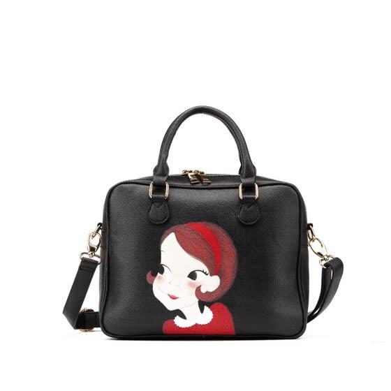 f2430653984e Fashion women shoulder bags PU leather messenger bags for female cartoon  printed tote bags casual women