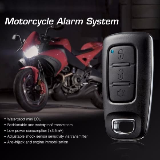 Steelmate 886E 1 Way Motorcycle Alarm System Water Resistant ECU Motorcycle Engine Immobilization with Fashionable Transmitter
