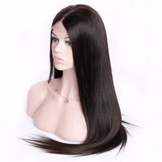 HCDIVA 360 Lace Frontal Wigs for Black Women Pre Plucked 150% Density Brazilian Straight Human Hair Wigs with Baby Hair