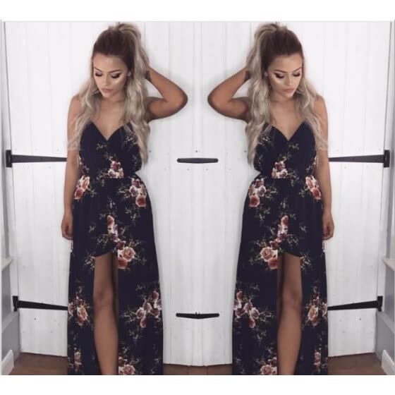 11009d4690 Summer dresses for Women beach wear Floral Print Sexy Deep V Neck Dresses  Costume Female Clothes