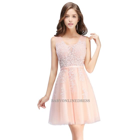Multi Color Embroidery Lace Short Evening Dress Sexy Chiffon Homecoming  Dresses 2cfa973d3