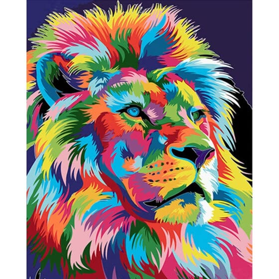 Shop Diy Animals Oil Painting Paint By Numbers Kit With