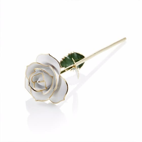 Shop Daya Anniversary Gold Rose Made from Real Rose Flower
