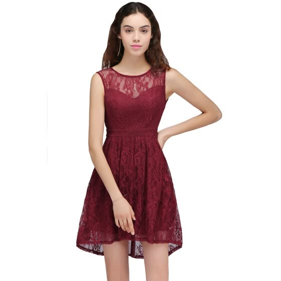 Christmas Ball Gowns Plus Size.Shop Evening Dresses 2018 Backless Lace Plus Size Burgundy