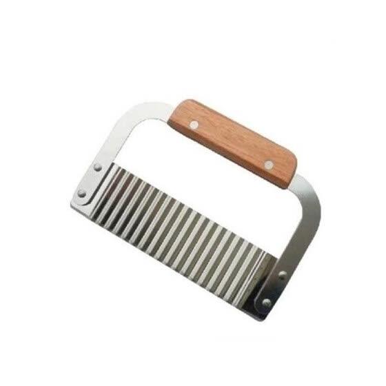 Shop Wooden Handle Potato Knife Wavy Potato Slicer Serrated Blade